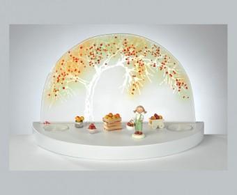 FLADE-GlÑserner Bogen Apfelbaum Herbst