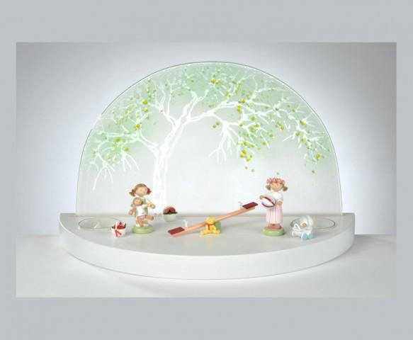 FLADE-GlÑserner Bogen Apfelbaum Sommer