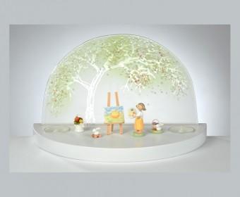 FLADE-GlÑserner Bogen Apfelbaum im FrÅhling